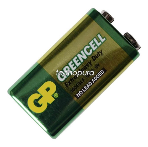 Pila Batería Cuadrada 9v Marca Gp Greencell Ref: 6f22