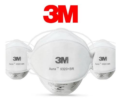 Máscara Respiratória 3m Pff2 N95 Aura 9320 Reutilizável