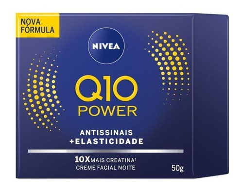 Creme Facial Antissinais Noturno Nivea Q10 Power 52g