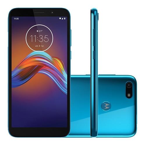 Celular Moto E6 Play Xt2029 32gb 2gb Ram 13mp Tela 5.5 Azul