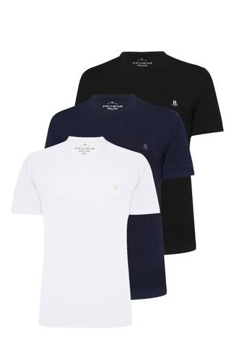 Kit 3 Camisetas Masculinas Algodão Básica Polo Wear