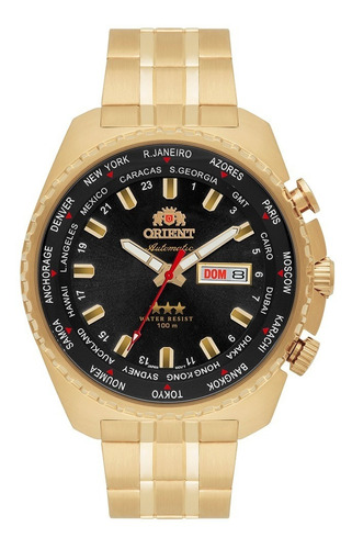 Relógio Orient 469gp057f P1kx Automatic Hora Mundi 469gp057