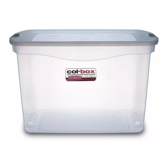Caja Organizador Plastico Apilable Con Tapa Taper 80 Litros Colombraro