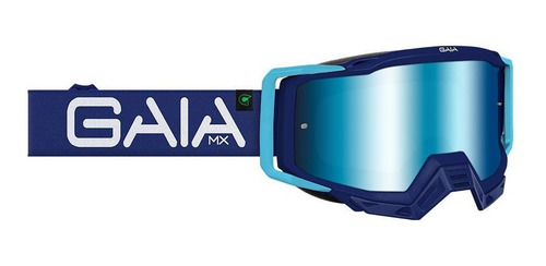 Óculos Gaia Mx Pró Blue Raze Lançamento Trilha Motocross