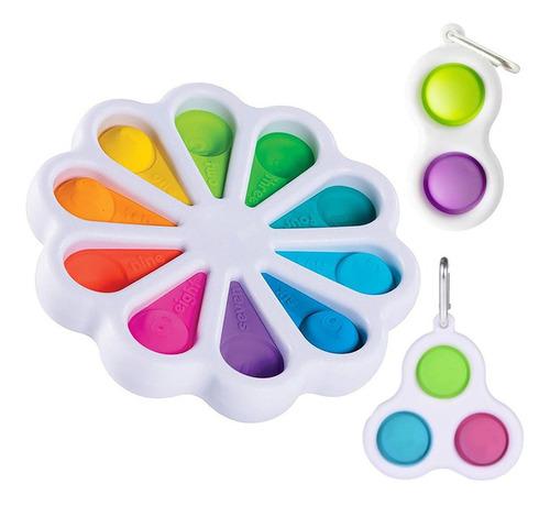 3 Bebê Sensory Fidget Simples Dimple Toy Educacional