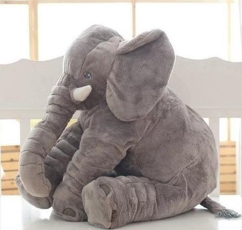 Almofada Elefante Pelúcia 60cm Travesseiro Bebê Antialérgico