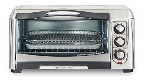 Toaster Oven With Air Fryer 6 Slices Stainless
