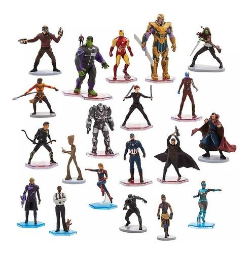 Avengers Vengadores Mega Set 20 Figuras Original De Disney