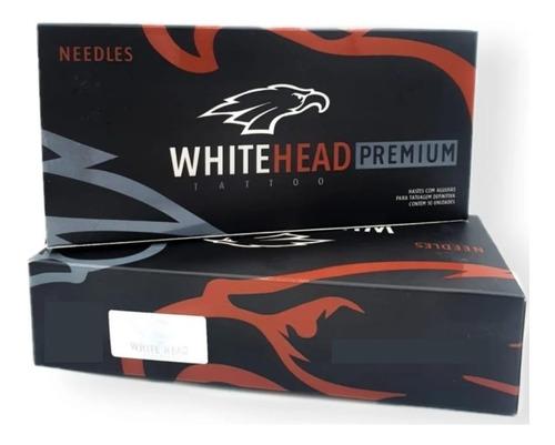 Caixa De Agulha Tattoo White Head Premium Rl 50un Tatuagem