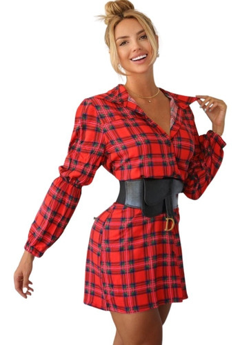 Vestido Camisa Feminina Camisetão Chemise Viscolinho Luxo