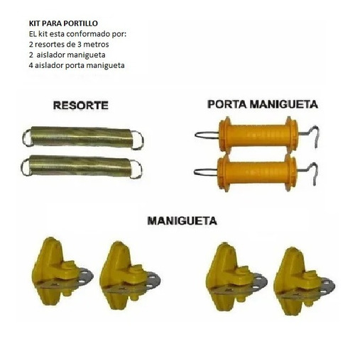 Kit De Portillo Para Cerca Eléctrica; Dos Líneas  Luxury.