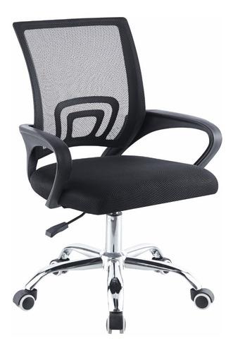 Cadeira De Escritório Giratória Com Regulagem Altura Begônia