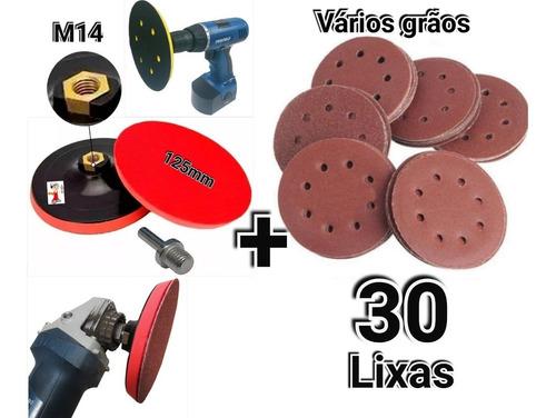 Suporte P/ Furadeira Esmerilhadeira +30 Disco Lixa 125mm