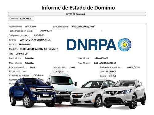 Informe De Dominio Automotor O Moto Urgente