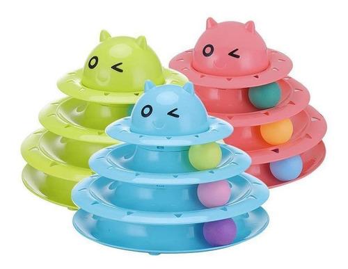 Juguete Para Gatos,pistas De Tres Niveles De Bolas,mascota