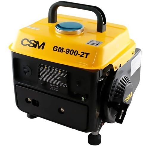 Gerador À Gasolina 0,90 Kva 2 Tempos Monofásico Gm-900 Csm