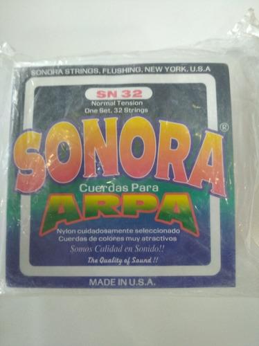 Set De Cuerda Para Arpa Sonora Sn32 , 32 Cuerdas