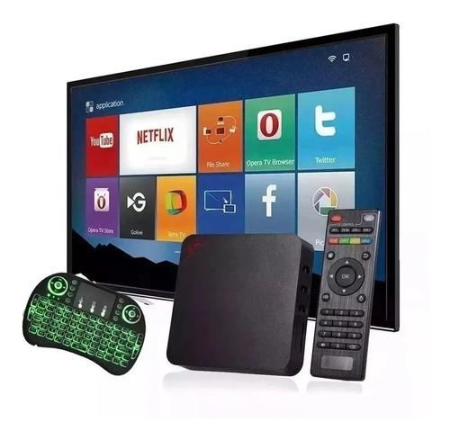 Aparelho Transforme Sua Tv Em Smart Tv Com Teclado Led