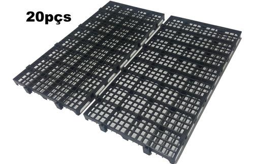20pçs Palete Plástico Estrado/ Pallet Plástico 25x50 X 2,5cm