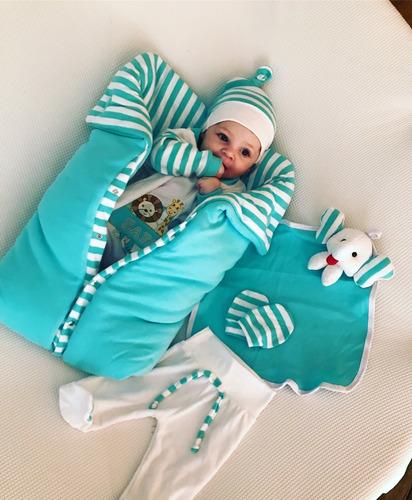 Saida Maternidade Bebe Menino Animais Saco De Dormir