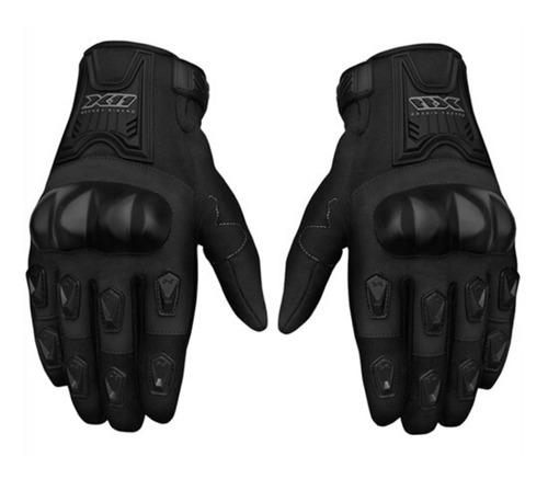 Luva Masculina Motociclista Moto X11 Blackout Proteção