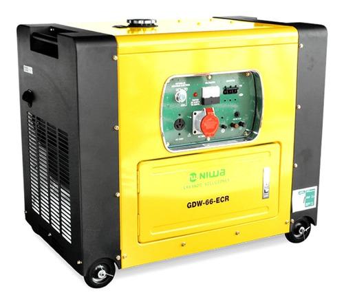 Generador Portátil Niwa Gdw-66-ecr 5200w Trifásico Con Tecnología Avr 360v - 380v