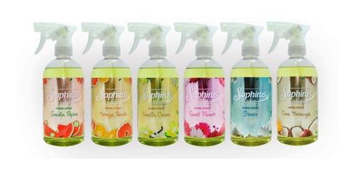 Perfume Para Ropa Home Spray SaphirusX 6 Unidades