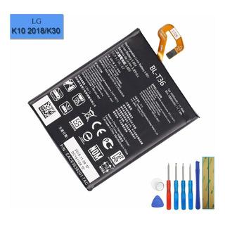Bateria Celular Li Polymer Bl T36 Compatible Con LG K10 2018 K30 K11 2018 X410 X410as X410e X410x Con Tool