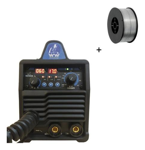 Maquina Multiprocesso 140amp 220v + Arame 0.8 Sem Gás 1kg
