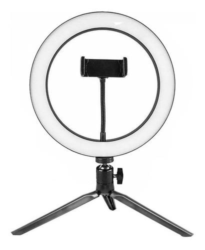 Kit Iluminador Ring Light Led Anel Aro Luz 10 Polegadas