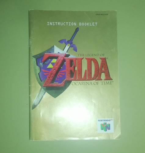 The Legend Of Zelda Ocarine Of Time Manual Del Juego