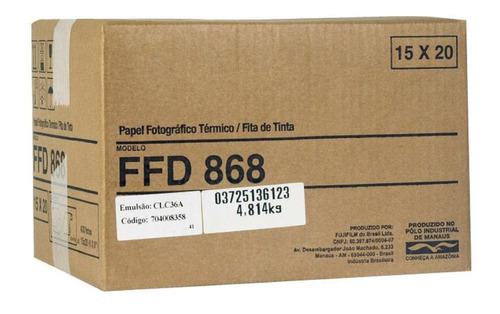 Papel Ffd868 Para Impressora Mitisubishi D80dw E D90dw