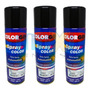 Spray Automotiva Colorgin Preto Brilhante 300ml 3un