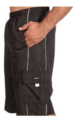 Bermuda Plus Size Shorts Piscina Elástico Tactel G5 G5 33 Ex