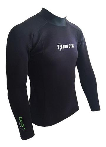 Camiseta Neoprene Mergulho Manga Longa - Proteção Térmica