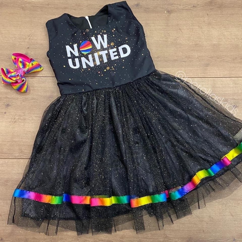 Vestido Now United Infantil Preto