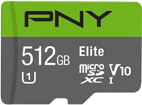 Cartão Micro Sd Memory Card Pny Elite U1 512 Gb