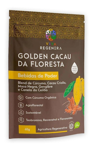 Golden Cacau Da Floresta Bebidas De Poder 60g Viva Regenera
