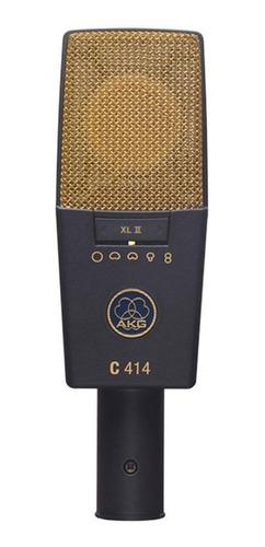 Micrófono Akg C414 Condensador Multipatrón Dark Gray/gold
