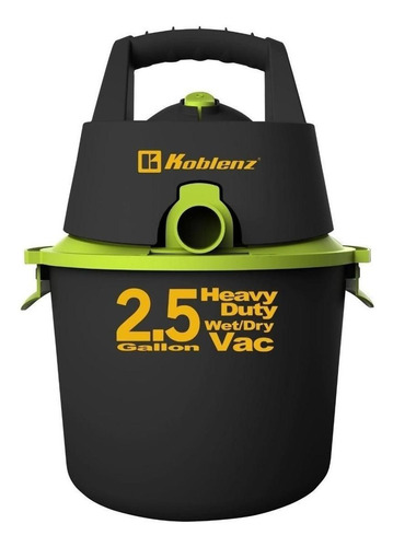 Aspiradora Koblenz Seco-mojado Wd-2.5k 2.5 Gal  Negra Y Verde 120v