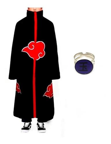Kit Manto Akatsuki Fantasia Cosplay Anel Tobi Obito M36