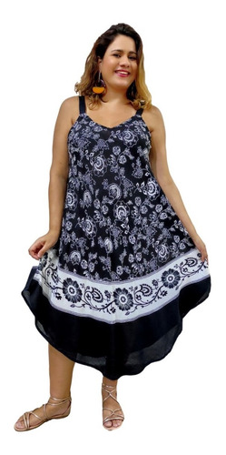 Vestido Feminino Curto Trapézio Moda Boho Estampado