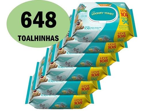 Kit 648 Toalha Lenço Umedecido Looney Tunes Atacado Promoção