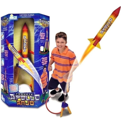 Brinquedo Foguete Apollo Voa De Verdade 5743 Anjo