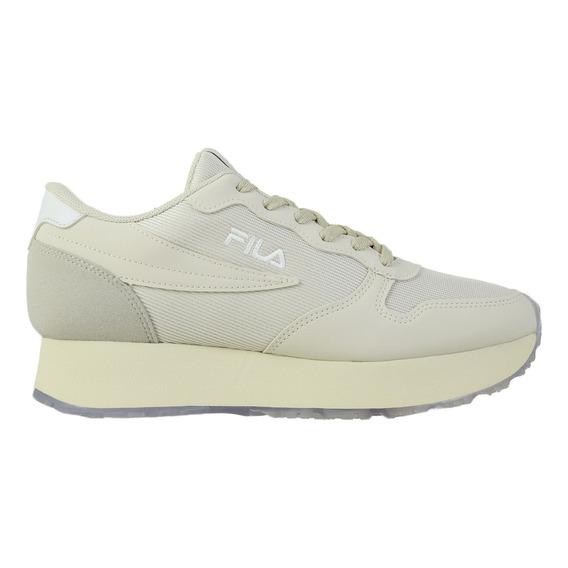 Zapatillas Fila Euro Jogger Wedge Mujer Be/wh