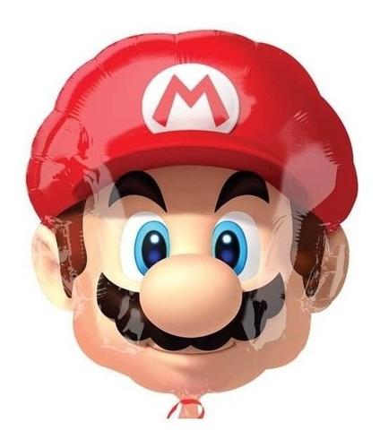 Globo Mario Bross Video Juegos Cumpleaños 48cm