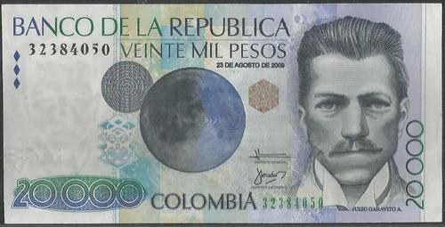 Colombia, 20000 Pesos 23 Ago 2009 Bgw733