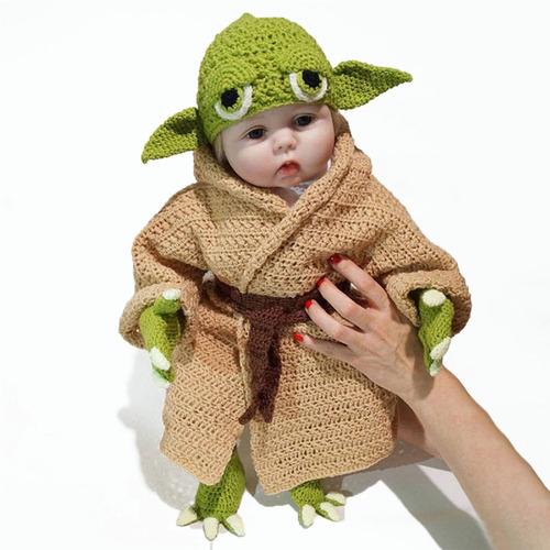 Star Wars Yoda Baby Um Fato De Fotografia De Cem Dias