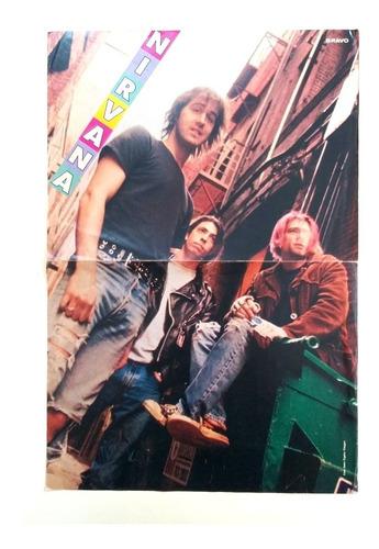 Poster Vintage Aleman De Nirvana, 1992, Kurt Cobain