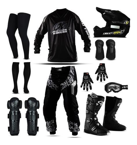 Kit De Motocross Trilha Adulto Conjunto Roupa Ims Pro Tork
